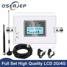 Cdma repetidor 850 mhz 70db lcd 2g 3g 4g 850 mhz umts gsm cdma amplificador de sinal de telefone celular impulsionador repetidor de sinal