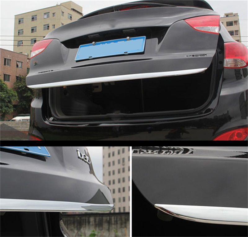 FOR 2010 2012 2013 2014 2015 HYUNDAI TUCSON IX35 CHROME REAR TRUNK BOOT TAILGATE DOOR COVER TRIM MOLDING Car Styling Accessories