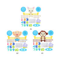 1set Math Match Game Board Game Monkey Match Balancing Scale Number Balance Game Cute Cartoon Children Early Educational Toy