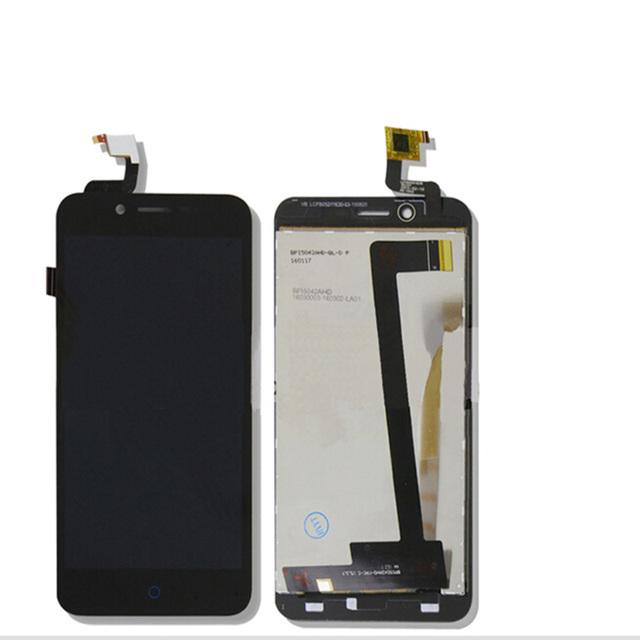 Para zte blade a460 l4 nueva negro pantalla táctil digitalizador del sensor de cristal + pantalla lcd reemplazo asamblea de pantalla del panel