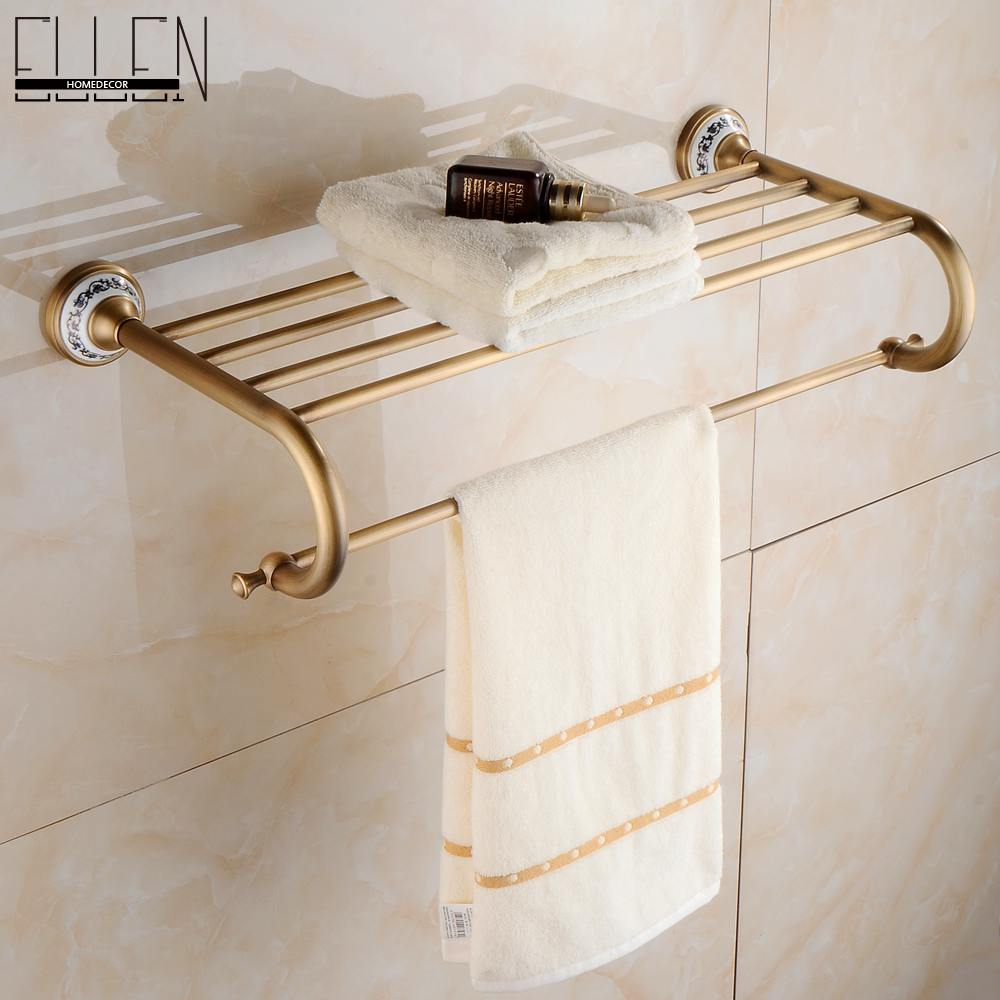 Wall mounted towel shelf towel shelves bathroom for Bathroom accessories towel holder