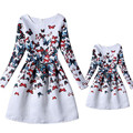 2017 Girl Formal Dresses Butterfly  Dresses Party Christmas Clothes Parent-child Outfit Family Matching Mother Daughter Dresses