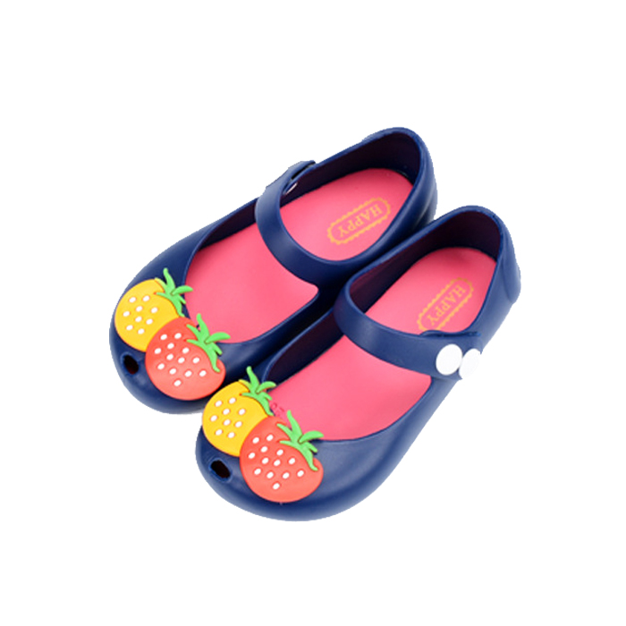Girl Mini Melissa Jelly Sandals Strawberry Cute Sandalen Kids Summer Beach Shoes Sandals Insoles 13-17CM Baby Toddlers