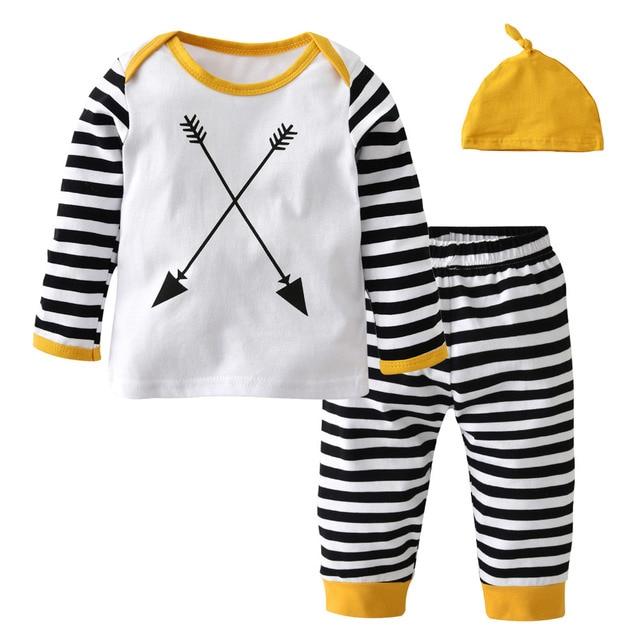 27009af9598 Autumn baby boy clothing set cotton long sleeve t-shirt+pants+hat fashion baby  boys clothes infant 3pcs suit toddler outfits