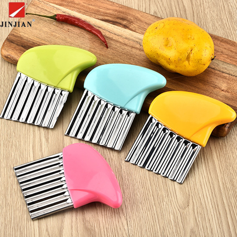 JINJIAN Potato Spiral Cutter Wavy Cutter Slicer Knife Vegetable Cutter Potato Cutter Peeler Knife Cooking Kitchen Accessories