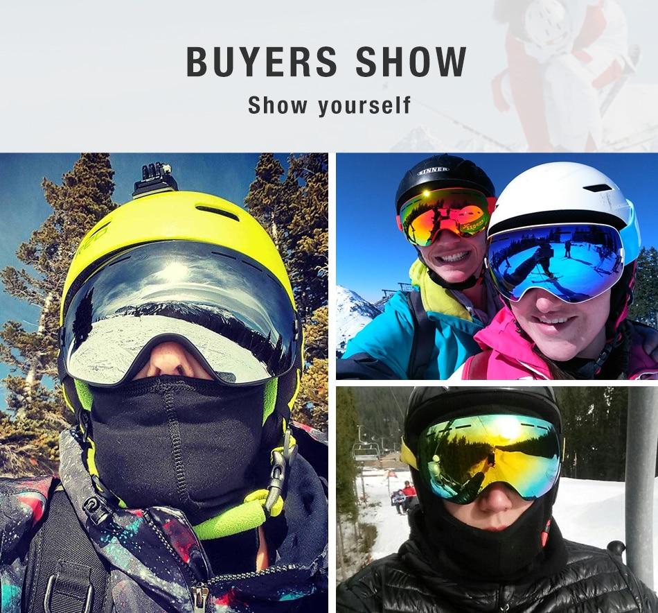 Copozz marca profissional óculos de esqui dupla