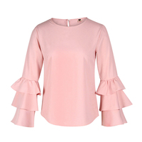 Summer TShirt Women Tops Ruffle Women T Shirts Blusas Casual Elegant Girl Clothes 2XL Roupa Mujer