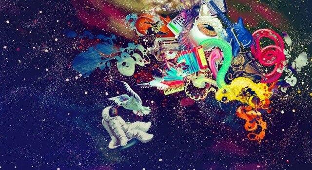 psychedelic trippy art watercolor inkjet watercolor inkjet fabric
