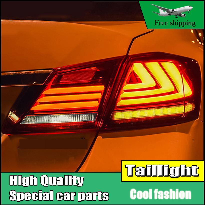 Car Styling For HONDA Accord 9 2014-2016 Taillights LED Tail Light LED Rear Lamp DRL+Brake+Reversing+Moving trun Signal Light akd car styling led drl for accord 2012 2014 eye brow light led external lamp signal parking accessories