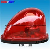 Frete Grátis  TBD-D1H1 Halogênio Farol Rotativo  DC12/24 V  a luz Vermelha de aviso  fire & Polícia/rotador carro 30 W luz  Instale Magnética