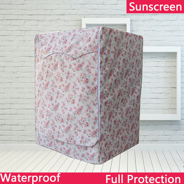 Polyester Silver Coating Sunscreen Waterproof Cover For Washing Machine Oxford Passport Cover cubierta lavadora copri lavatrice