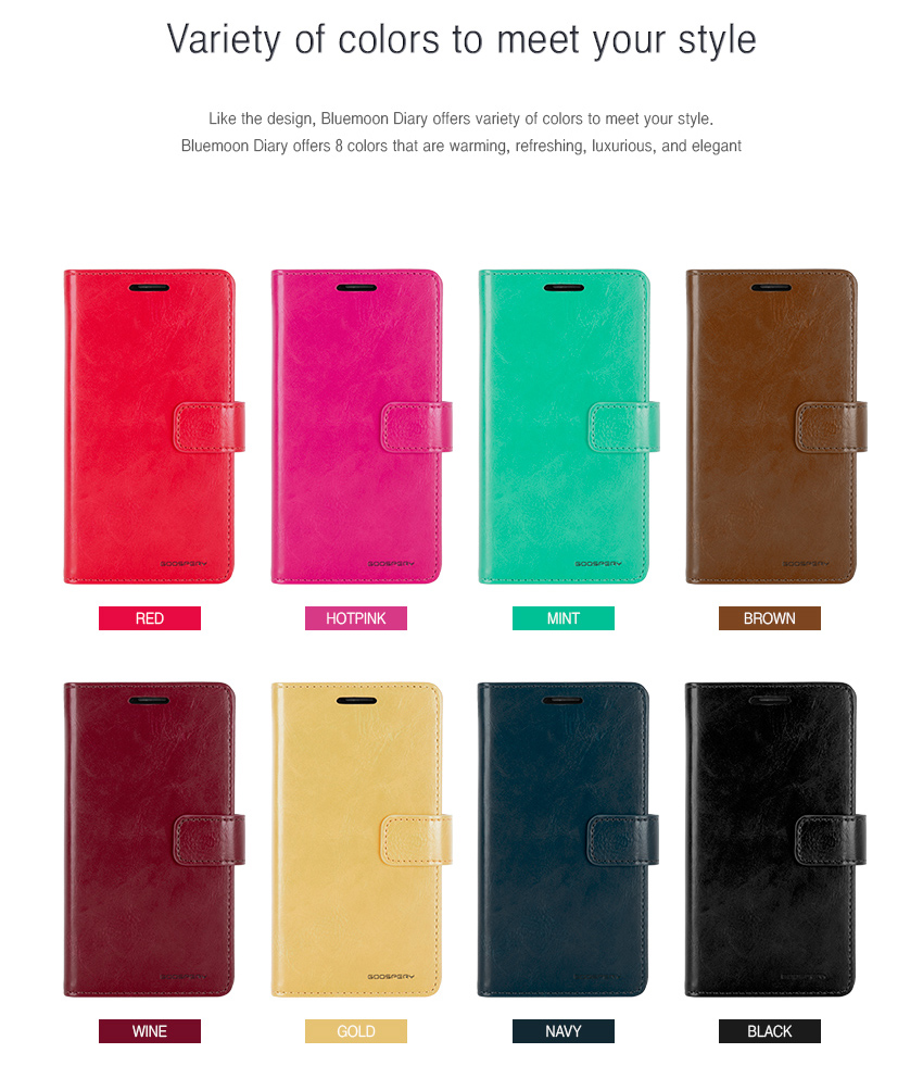 Genuine Mercury Goospery Mansoor Diary Double Wallet Flip Cover Case Samsung Note 8 Fancy Pink Hotpink Bluemoon S6 Detail Eng 9
