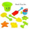 Nova praia grande balde 9 pçs/set de brinquedos para play com ferramentas de dragagem de areia e praia brinquedos educativos para crianças