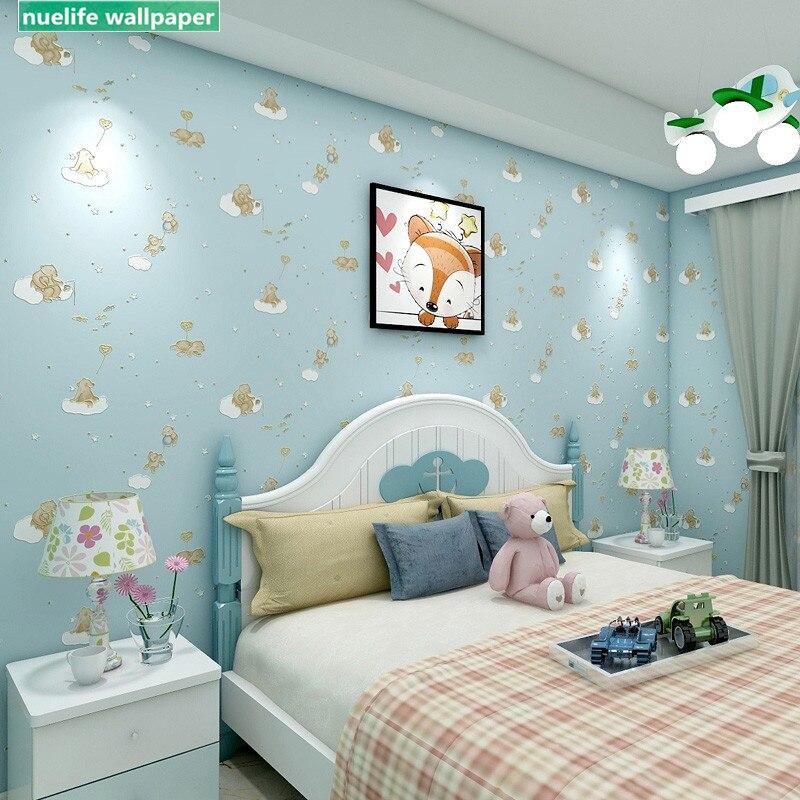 Cartoon Pink Blue Bear Non Woven