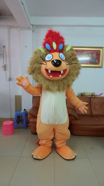 6f28b0cb4 NEW Adult Size Popular Happy Golden Lion Mascot Costume Character Halloween Costumes  Fancy Dress Suit Free