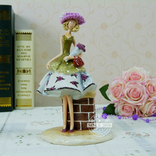 Quality Ceramics Girl Sculpture Decorative Craftworks Embellishment Accessories for Art Collection and Souvenir. Free Shipping