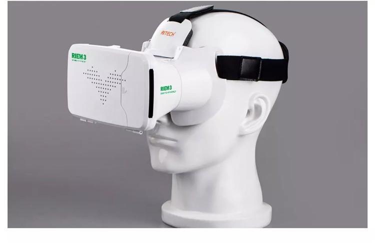 New Ritech III 3D VR Glasses RIEM3 Virtual Reality Head Mount Google Cardboard Oculus Rift DK2 Box for 4.7 ~ 6.0 Inch SmartPhone (18)