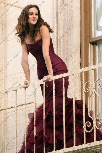 Fashinable vestido vestido de baile cor vestidos Gossip Girl Blair Waldorf vestidos de sereia vestido de noiva