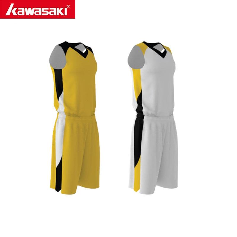 Kawasaki Summer Men & women Basketball Jerseys Youth Breathable Sports kit Blank Reversible Basketball Uniform short стоимость