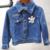 Crianças Da menina Da Criança Primavera roupas Jeans casaco blazer Jaqueta Jeans Mickey Minnie Crianças Meninas Outerwear jaquetas outfits roupas