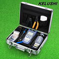 KELUSHI FTTH Fiber Optic Tool Kit with Fibra Optica Power Meter and Visual Fault Locator and Cable Cutter Stripper FC-6S Cleaver