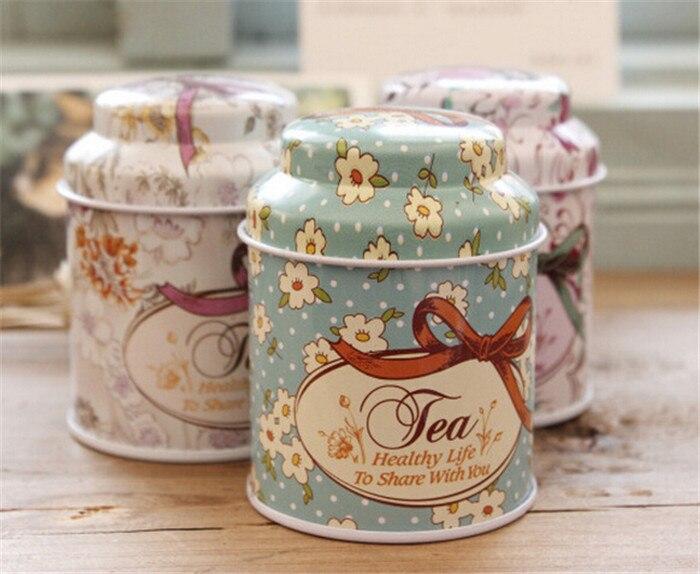 50pcs/lot Small tin tea caddy tea tin box candy box