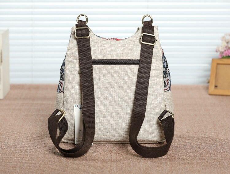 Nice nacional string apliques mochilas de viagem!