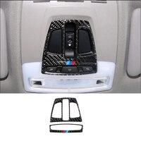 Carbon Fiber Auto Innen Vorne Lesen Licht Lampe Rahmen Abdeckung Trim Für BMW 1 2 3 4 Serie 3GT X1 x5 X6 F20 F30 F31 F32 F34 F36