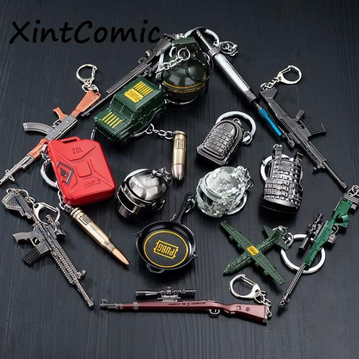 Game PUBG PLAYERUNKNOWNS BATTLEGROUNDS Cosplay Costume Metal key ring Pan Armor Model Keychain PUBG