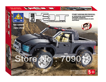 Enlighten Child 6889 educational Hummer car motorcycle KAZI building block sets,Particles Block toys for children free Shipping