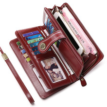 women's wallet female Genuine leather 2020 women wallets Clu