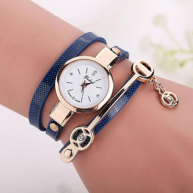 FANALA Watch Women Fashion Multi Layer Wristwatch Synthetic Leather Quartz Watch