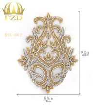 Crystal-Stone-Beads-Patches Wedding-Dresses Decorative-Garments Rhinestone And for DIY
