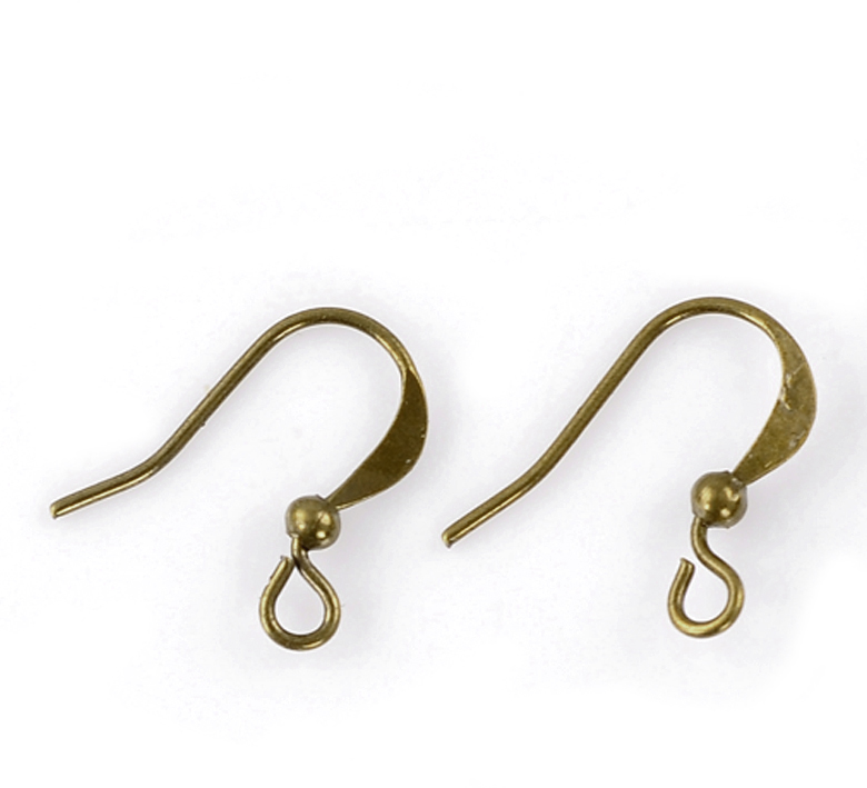 DoreenBeads Alloy Earring Components Earring Findings Twist Antique Bronze 16mm( 5/8
