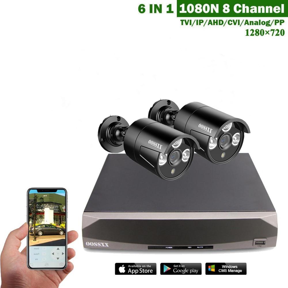 все цены на OOSSXX 8CH CCTV System 720P HDMI AHD CCTV DVR 2PCS 1.0 MP IR Outdoor Security Cameras 1280 TVL Camera Surveillance Kit онлайн