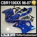 7giftsFor HONDA 96-07 CBR1100XX Blackbird Dark blue CBR 1100XX 51 1100 96 97 98 99 00 01 02 03 04 05 06 07 CBR1100 XX  Fairing