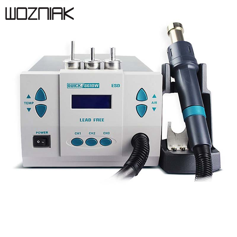 Quick 861DW Soldering Iron Rework Station Professional Digital Soldering Rework Station Hot Air Heat Gun Station Hot Air Rework saike 858 hot air gun rework station heat gun desoldering station