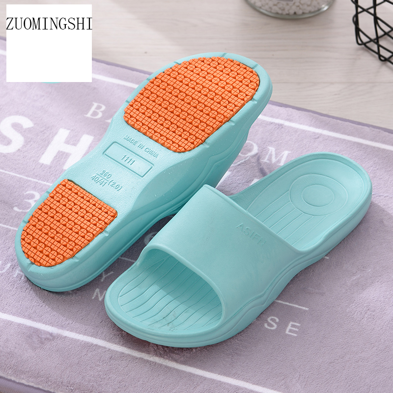 2018 summer Women bathroom slippers Stripe Flat Bath ...