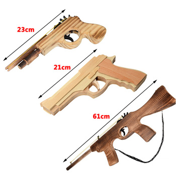 Diy Bala Juguete De Lanzador Pistola 3d Goma Madera Knxwop80 AR345jL