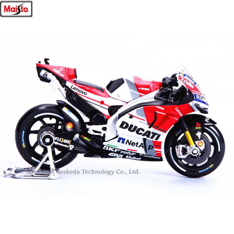 Maisto 1:18 Ducati GP2018 Championship Racing Silvardo original authorized simulation alloy motorcycle model toy car