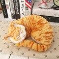 Спящая кошка игрушки животных Моделирования кошки meowth детские pet cat плюшевые игрушки модель украшения подарок на день рождения Электронные Pet
