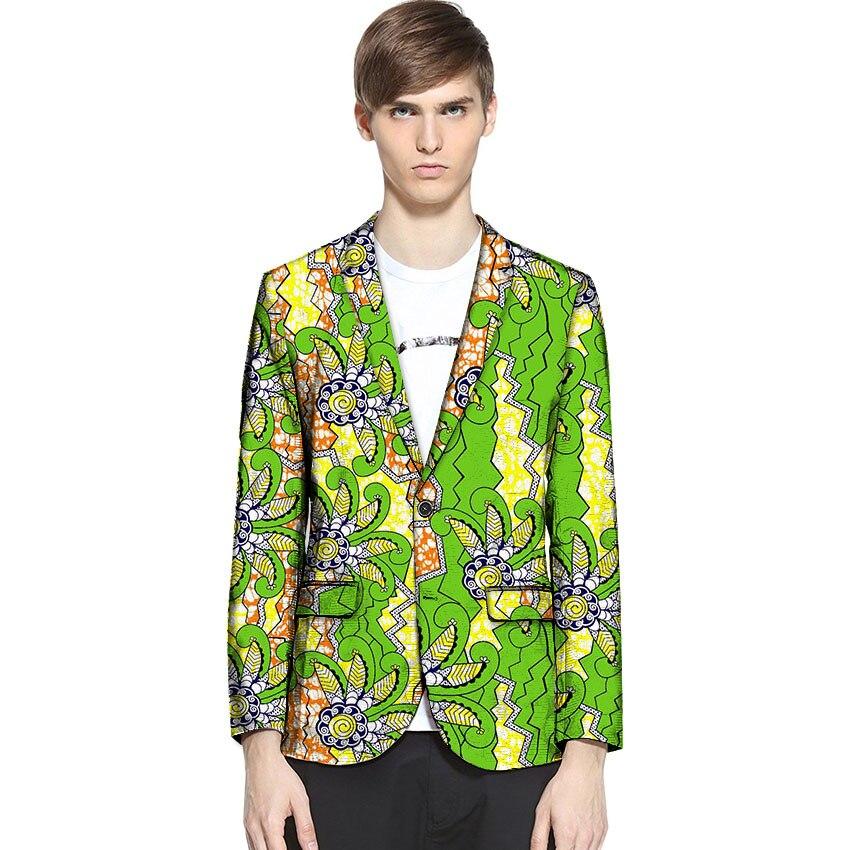 Africa Fashion Print Suit font b Jacket b font Men Blazers African Festive Man Blazer For