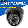 4 IN 1 AHD Camera 720P 1080P HD CCTV Dome CVI TVI Camera CVBS Night Vision Cmos 2000TVL Hybrid Camera Security OSD Menu Switch