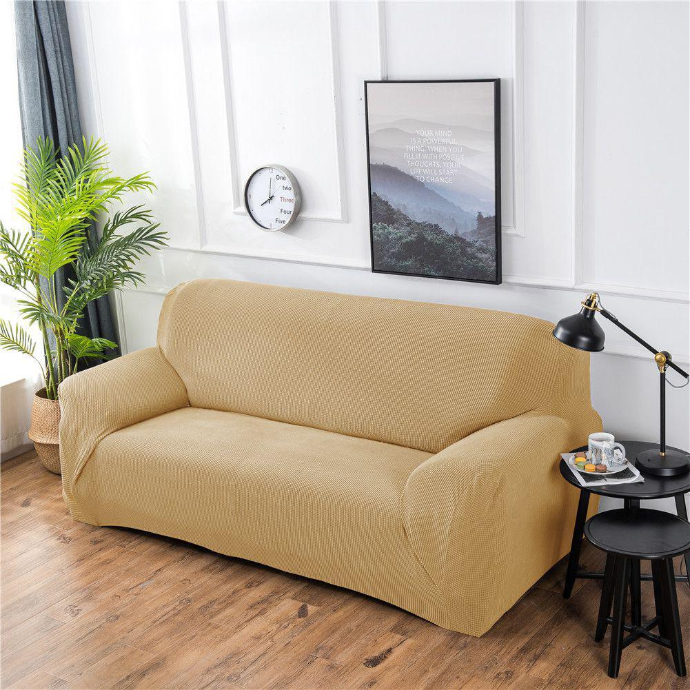 Adeeing стрейч полиэстер Sofa Slipcover эластичные Однотонная одежда мягкий стул, диван крышка Щит стильный протектор мебели