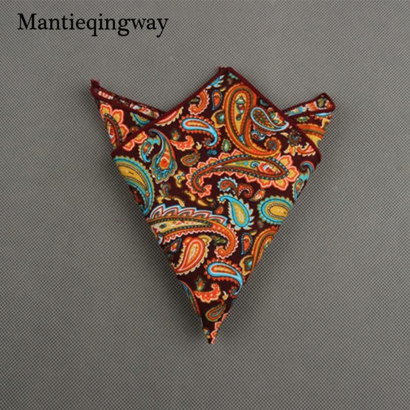 Mantieqingway Mens 23*23CM Cotton Handkercheifs For Wedding Chest Towel Men Suits Fashion Business Hankies Hanky FoR Men Gift