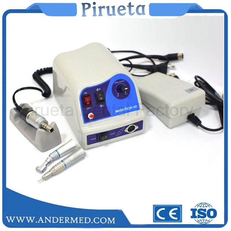 Laboratoire dentaire Marathon N8 micromoteur Micro moteur 45,000 tr/min pièce à main équipement de laboratoire polisseuse avec pièces à main lentes droites