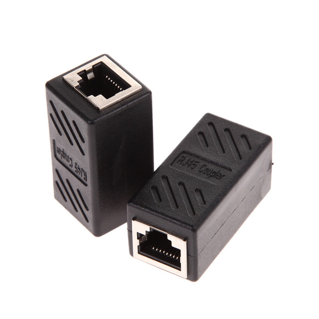 Practical 2pcs Rj45 Female To Female Network Ethernet Lan