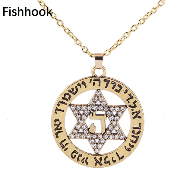 93a29b87131 Fishhook Crystal Star of David Nordic Wicca Norse Supernatural Vikings  Amulet Charms Unisex s Necklaces for Jewelry Making