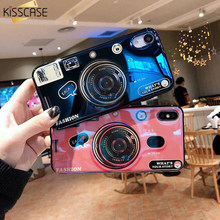 KISSCASE Camera Case For iPhone XS Max XR X 6S 6 7 8 Plus With Phone Grip Mirror Plane Soft TPU Funda