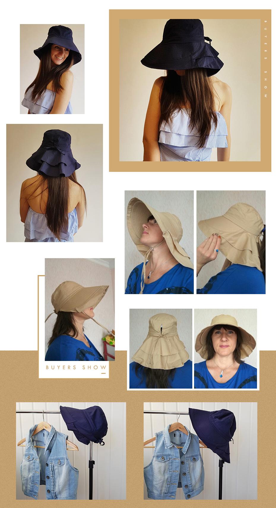 FANCET Compactáveis Dobrável Das Mulheres Da Praia do Verão Chapéus ... 4a5952d24fe